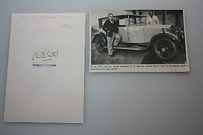 William Scott - Motorsport -original Autogramm Rückseitig - Größe - 14  x 9  cm