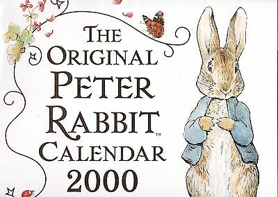 Peter Rabbit  Calendar 2000 - Or 12 Pictures To Frame For The Nursery! - Mint