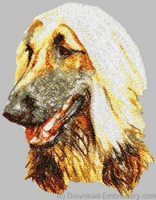 Embroidered Long-Sleeved T-shirt - Afghan Hound DLE1455 Sizes S - XXL
