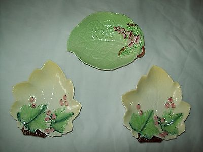 lot of 3 small Carlton ware Leaf Trays dishes