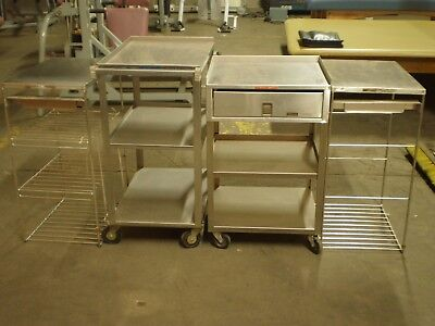 Lot Stainless Steel Racks/stands/carts - Lakeside Mfg #311 & Hydrocollator