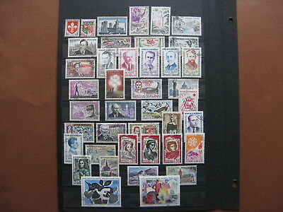 FRANCE oblitérés , UN LOT DE 112 TIMBRES (1960-1980)
