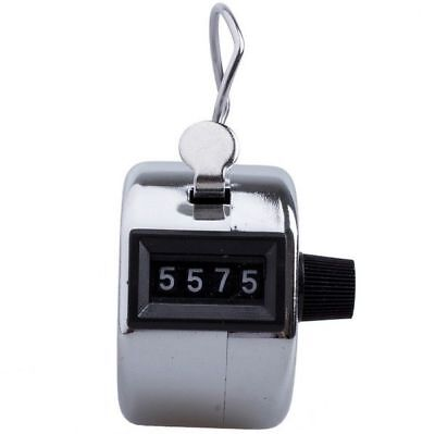 4 Digit Hand Tally Counter Mechanical Manual Palm Clicker Click Manual Counting