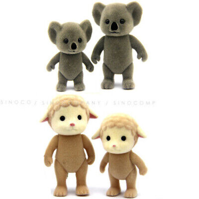 Lot 5PCS Sylvanian Family Koala Sheep Family Animals Cute Figure Boy Girl Toys