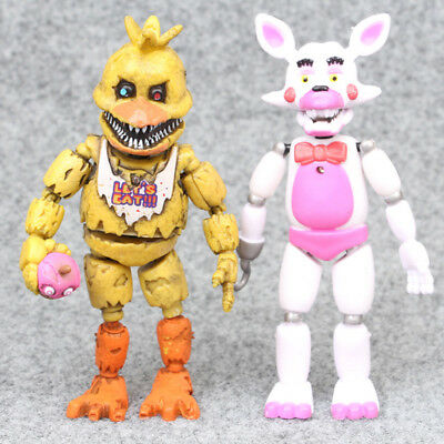 2017 6Pcs Five Nights at Freddy's Action Figures Toys LED Lights Kids Gifts