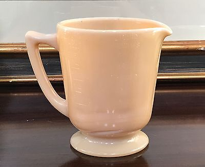 McKee Dark Caramel Carmel Glass 4 Cup Handled Wet Dry Measuring Cup Pitcher