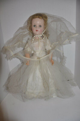 "Vintage 1950 American Character? Sweet Sue? Bride Doll 20"" Walker W All Clothes"