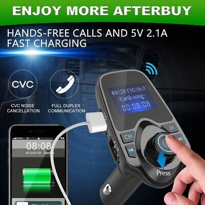 Wireless Bluetooth FM Transmitter LCD Car MP3 Player Handsfree Kit with USB/SD