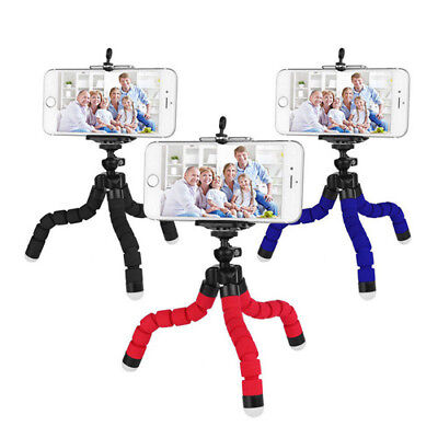 Universal Mini Flexible Stand Tripod Mount + Free Holder For Smart Phone iPhone.