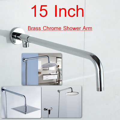 15'' Brass Chrome Shower Arm Bottom Entry Wall Mounted Shower Head Extension