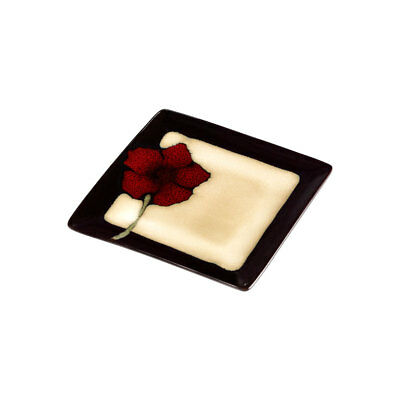 Pfaltzgraff Painted Poppies Square Accent Plate