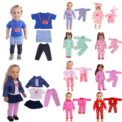Baby Doll Clothes Dress Outfits Pajames For 18 inch American Girl Doll Sleepwear