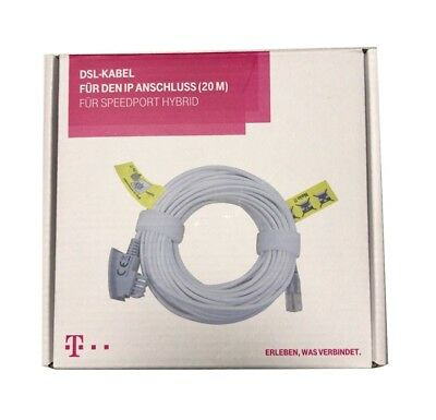 20m Original Telekom DSL VDSL Router IP Kabel FritzBox EasyBox Speedport TAE/RJ4