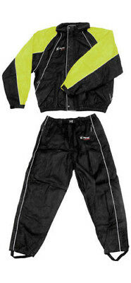 Frogg Toggs Hogg Togg Motorcycle RainSuit Black/Lime LG/Large