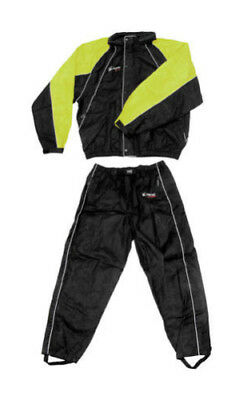 Frogg Toggs Hogg Togg Motorcycle RainSuit Black/Lime XL/X-Large