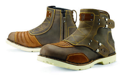 Icon 1000 El Bajo Leather Boots Oiled Brown 14 US