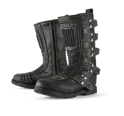Icon 1000 Elsinore Leather Boots Black 10.5 US