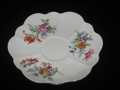 Shelley Orphan Tulip & Rose Floral Saucer Only