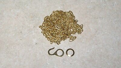 BRASS CHAIN FOR CUCKOO CLOCKS  NEW PARTS CLOCK PART 46 links / ft