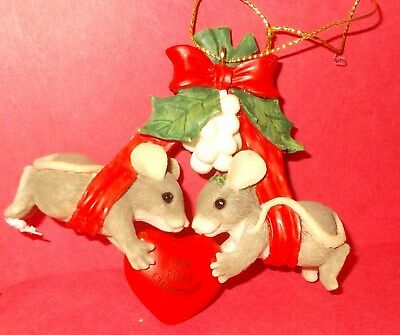 """#33 Charming Tails """" Our First Christmas Ornament"""" 86/708 - Signed Dean Griff 98"""