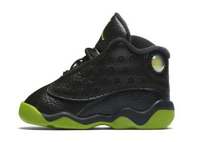 "Infant (TD) Air Jordan 13 Retro ""Altitude"" Black/Altitude Green 414581-042"