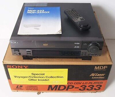 Sony MDP-333 Laserdisc LD CD CDV Player Powers Up But Tray Does Not Work