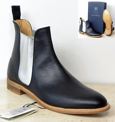 0a216486835 M&S BEST OF BRITISH all LEATHER Ladies CHELSEA BOOTS by CHEANEY ~ Size 3 ~  BLACK