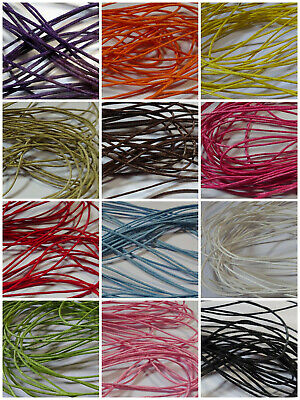 6 meters of approx 1mm thick Waxed Cotton Cord - various colours (pre cut)
