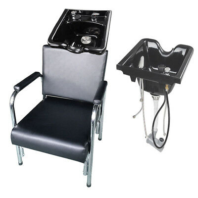 Backwash Shampoo Bowls Sink Barber Chair Unit Station Beauty Spa Salon Equipment