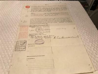 1920 Bank of Scotland Stock Transfer Fifteen Shillings