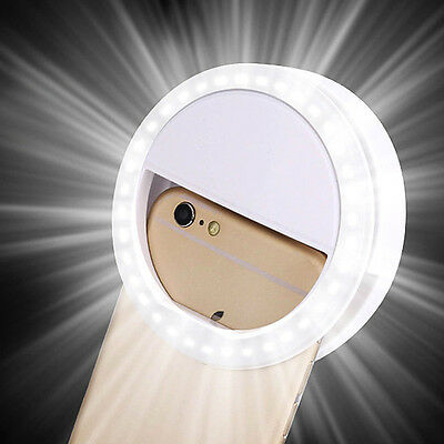 Fashion Selfie LED Ring Fill Light Clip Insert  For iPhone Camera Photography H#