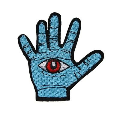 All Seeing Eye Hand Iron On Patch Third Evil Illuminati Bagde Embroidered Appliq