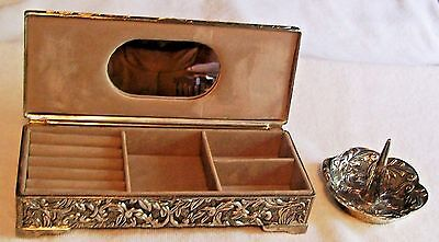 "Godinger Silver Plate 9 X 3.5 X 2""jewelry Box & Ring Holder Nice Shine,nice Gift"