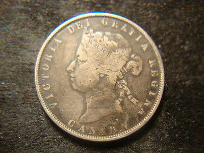 1872-H F VF  Canada Fifty  Cents Decent Coin