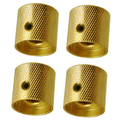 4 Pieces Brass Electric Guitar/Bass Volume Tone Control Knobs Buttons Gold