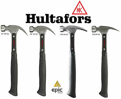 HULTAFORS TC Or TR 16oz / 20oz Claw Framing Carpenters Ergonomic Steel Hammer