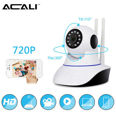 ACALI 720P Wireless Pan Tilt IP Camera IR Night Vision WiFi Webcam / Memory Card