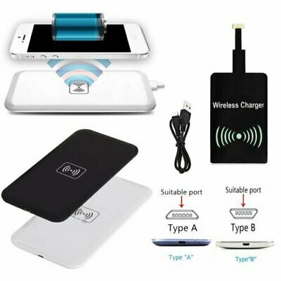 Qi Wireless Charger Charging Pad + Receiver Kit + USB Cable For Samsung Galaxy