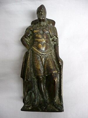 Antique 19th C. Bronze Front Door Knocker - Roman/Greek Soldier.