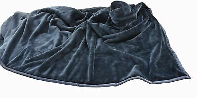 4kg Heavyweight Thick Korean Style Faux Mink Blanket Oversized King, Gray