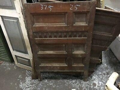 "c1890-1900 oak & poplar raised panel wainscot 8 sections - 28/40"" H x 10-32"" W"