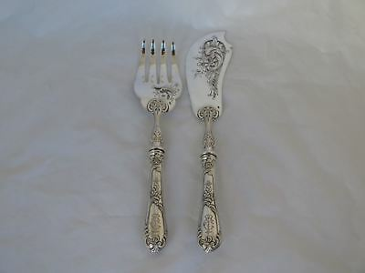 Massive Antique .800 Silver European Fish Serving Set