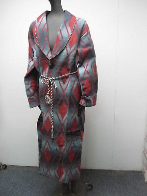 RARE VTG 1920s 30s BEACON OMBRE SOUTHWESTERN FELTED COTTON ROBE MINT NEVER WORN!