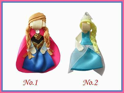 20 BLESSING Good Girl Bug Hair Bow Clip FROZEN Character Snowflake