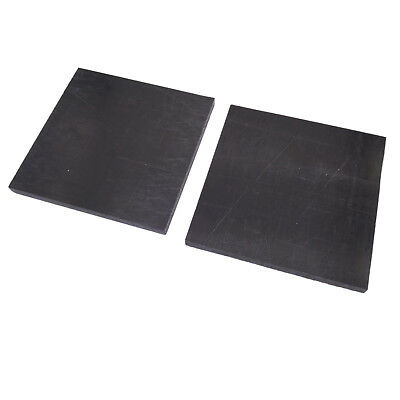 US Stock 2pcs 6x100x100mm Black Acetal Delrin POM Polyoxymethylene Plate Sheet