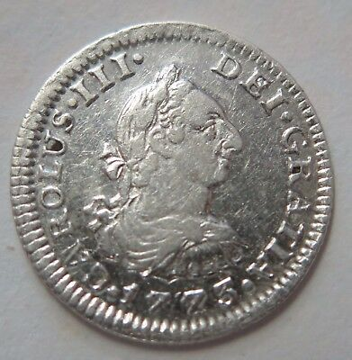 Mexico 1773 Charles III 1/2 Real Very Fine