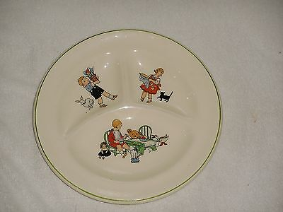 Vintage Supreme Dairy 1940's Grill Plate Advertising Pottery Plate - Free Ship