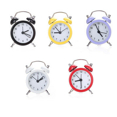 Twin Alarm Clock Bell Silent Super Loud Alloy Stainless Metal Alarm Clock Home