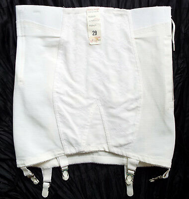 Vintage-New Open Girdle Size 29 Lace-Front Young Smoothie High-Waist Garters USA