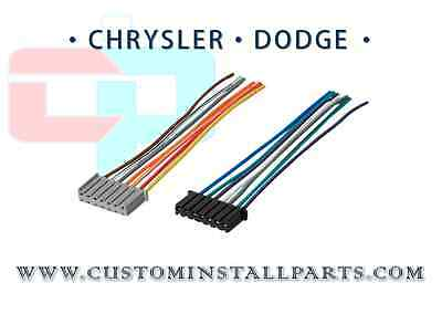 Factory Radio OEM Chrysler Dodge Jeep Reverse Male Wire Wiring Harness Plug